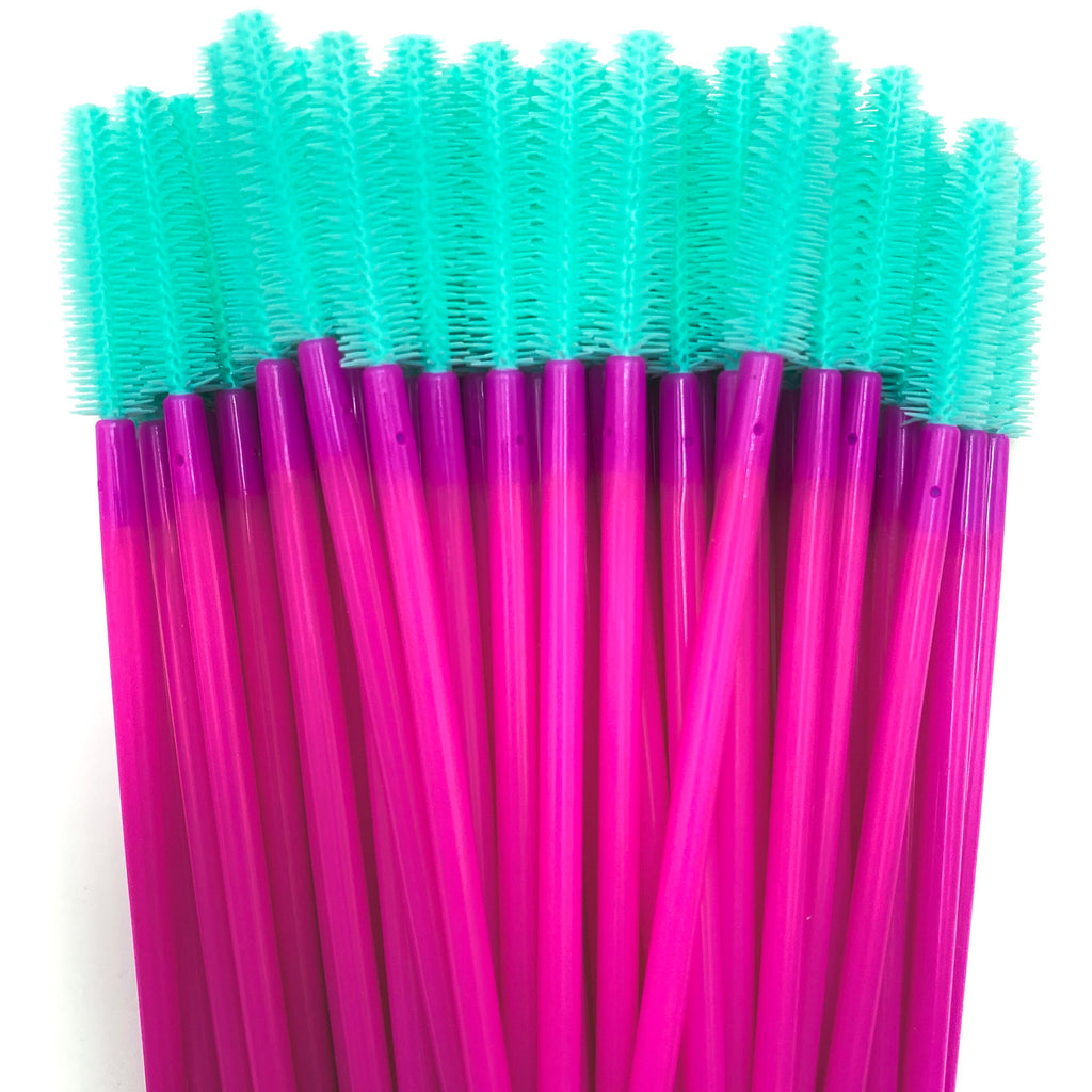 50% OFF Pink/Teal Silicone Mascara Spoolie Wands