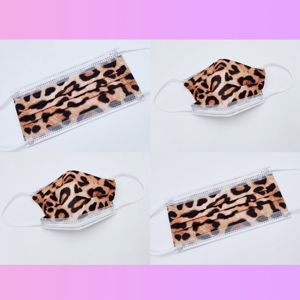 ✨JUST RESTOCKED!✨ Single Use Leopard Print Face Masks