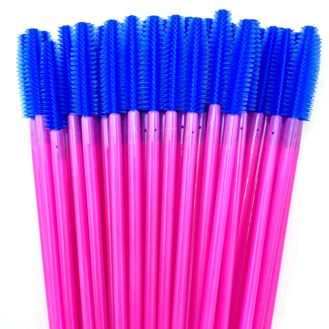 50% OFF Pink/Purple Silicone Mascara Spoolie Wands