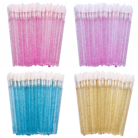 50% OFF! 4 PACK Glitter Doe Foot Applicator Wands - Pink, Purple, Blue, Gold