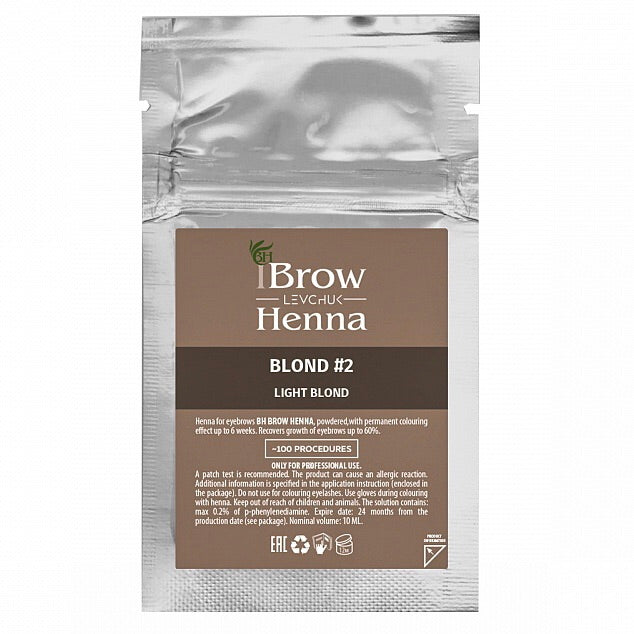 BLONDE 2 - BH BROW HENNA Light Blonde
