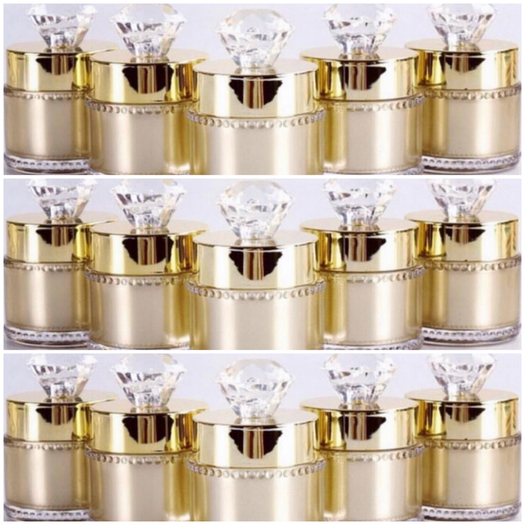 Minx Lux Gold Diamond Jars