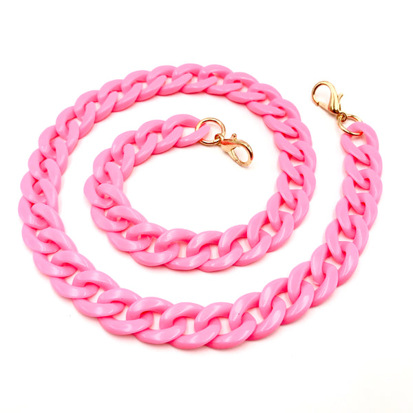 Face Mask Chain - Bright Pink