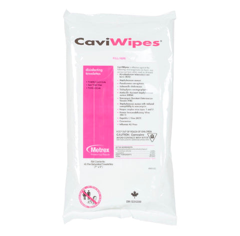 CaviWipes Disinfectant Wipes - Flat Pack