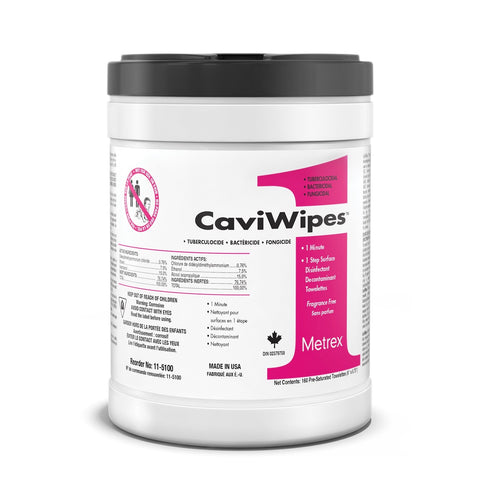 CaviWipes 1 Minute Disinfectant Wipes - 160 Wipes Large Canister