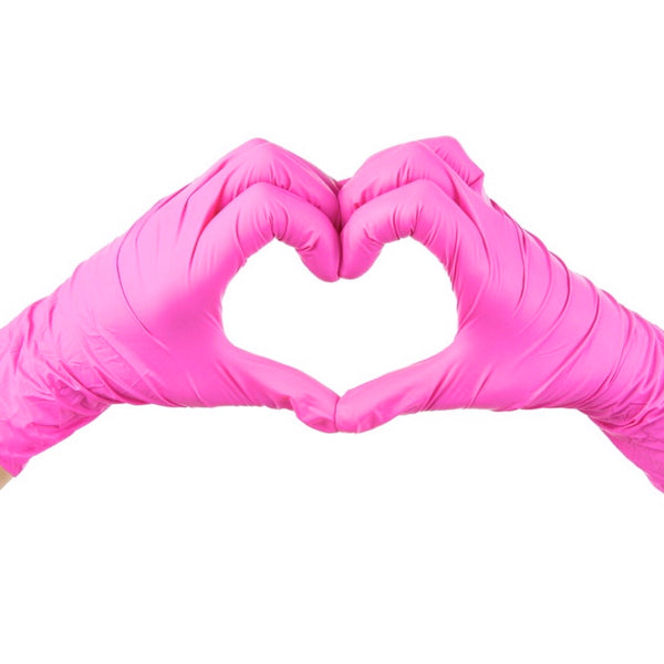 HOT PINK Nitrile Gloves