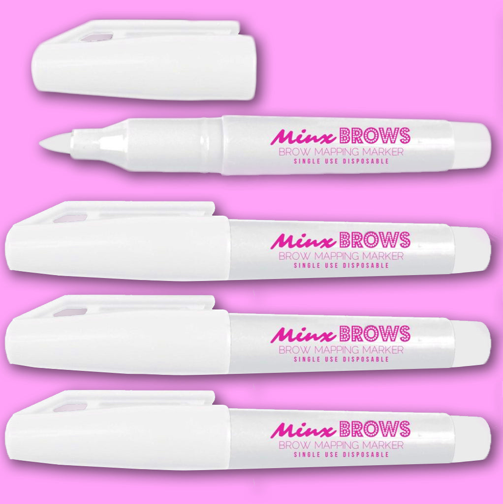 $3 WHITE INK Brow Map Markers - Pack of 10