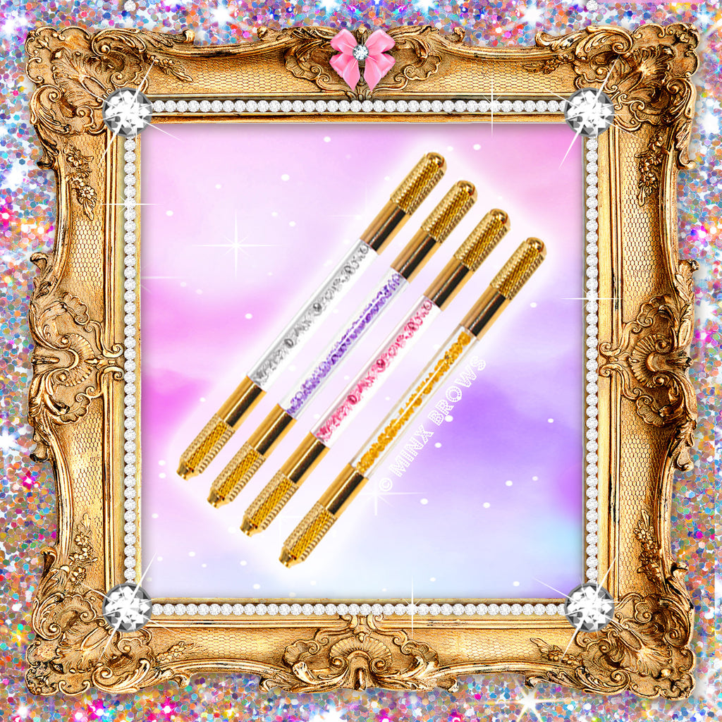 Royalty Collection Set of 4 Gold Crushed Crystal Microblading Tools