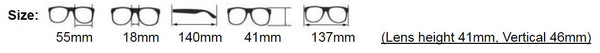 Blue Light Filtering Lenses Sizing