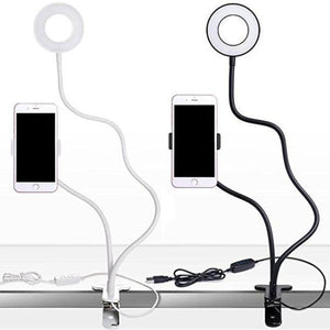 FleekFone™ Flexible Phone Holder / LED Ring Light