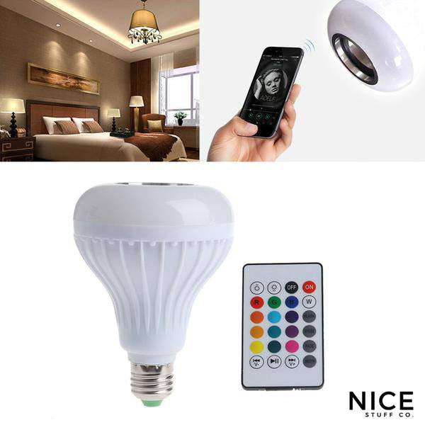 Smart LED Light Bulb Bluetooth Speaker