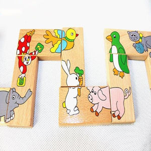 JuniorEinstein™ Wooden Animal Dominoes