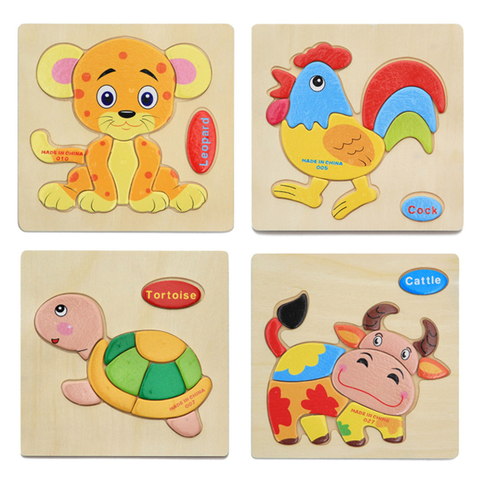 JuniorEinstein™ Wooden Animal Puzzle