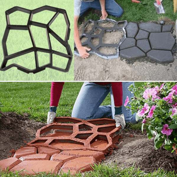 DIY Brick Path Molder