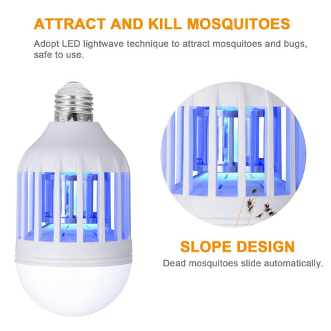 2 in 1 LED Light Bug Zapper