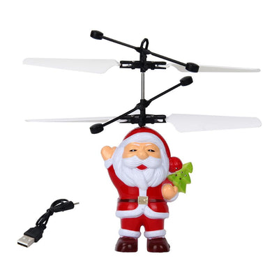 LED Flying Santa Claus