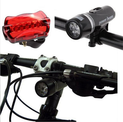 Bicycle Head And Tail Light Set