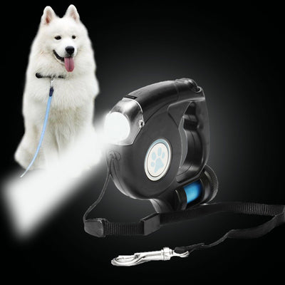 HappyPaws™ 3-In-1 Retractable Leash