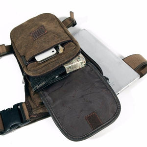 Canvas Leg Drop Waist Bag