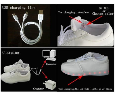LED Light Up Low-Cut Shoes
