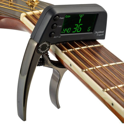 Guitar Capo with Built-in Tuner