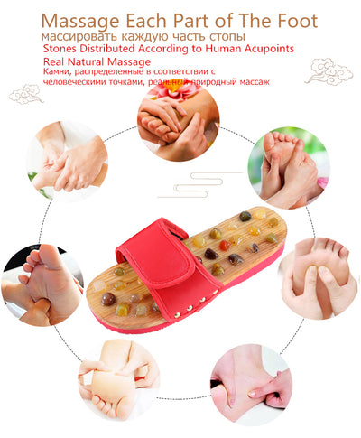 PureRelief™ Acupressure Pebble Slippers