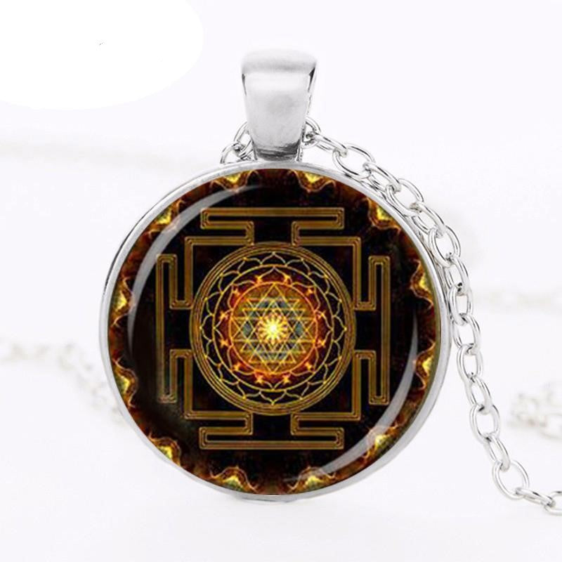 CharmGem™ Mandala Glass Dome Necklace