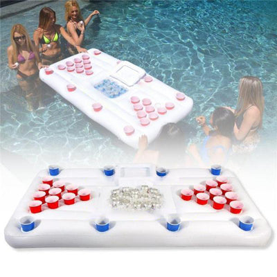 Inflatable Beer Pong Table Cooler