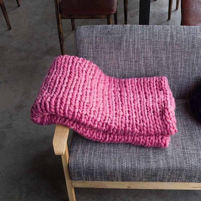 Hand Knit Giant Wool Blanket