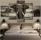 Huge Elephant Canvas (5 Piece)