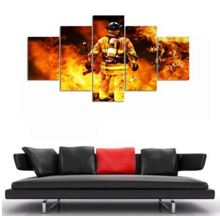 Firefighter Hero Canvas (5 Piece)