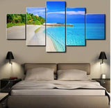 Beach Scenery Canvas (5 Piece)