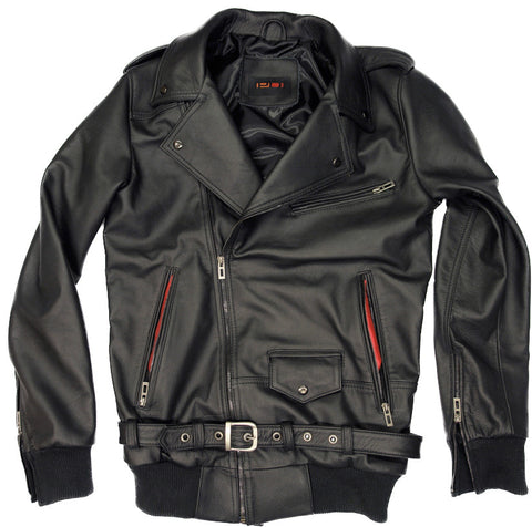 KC Leather Jacket Black Biker