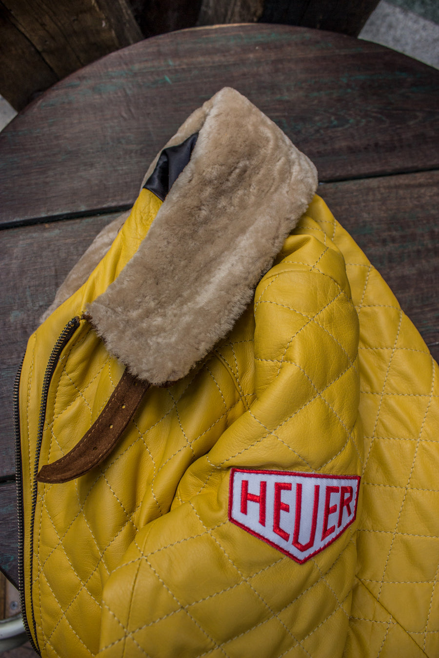 EVEREAST Leather Jacket Shearling Collar Quilted, #HEUER Ed. - PDCollection Leatherwear - Online Shop
