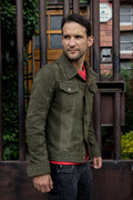 MARTIN Leather Jacket Green  - Nubuck Suede -
