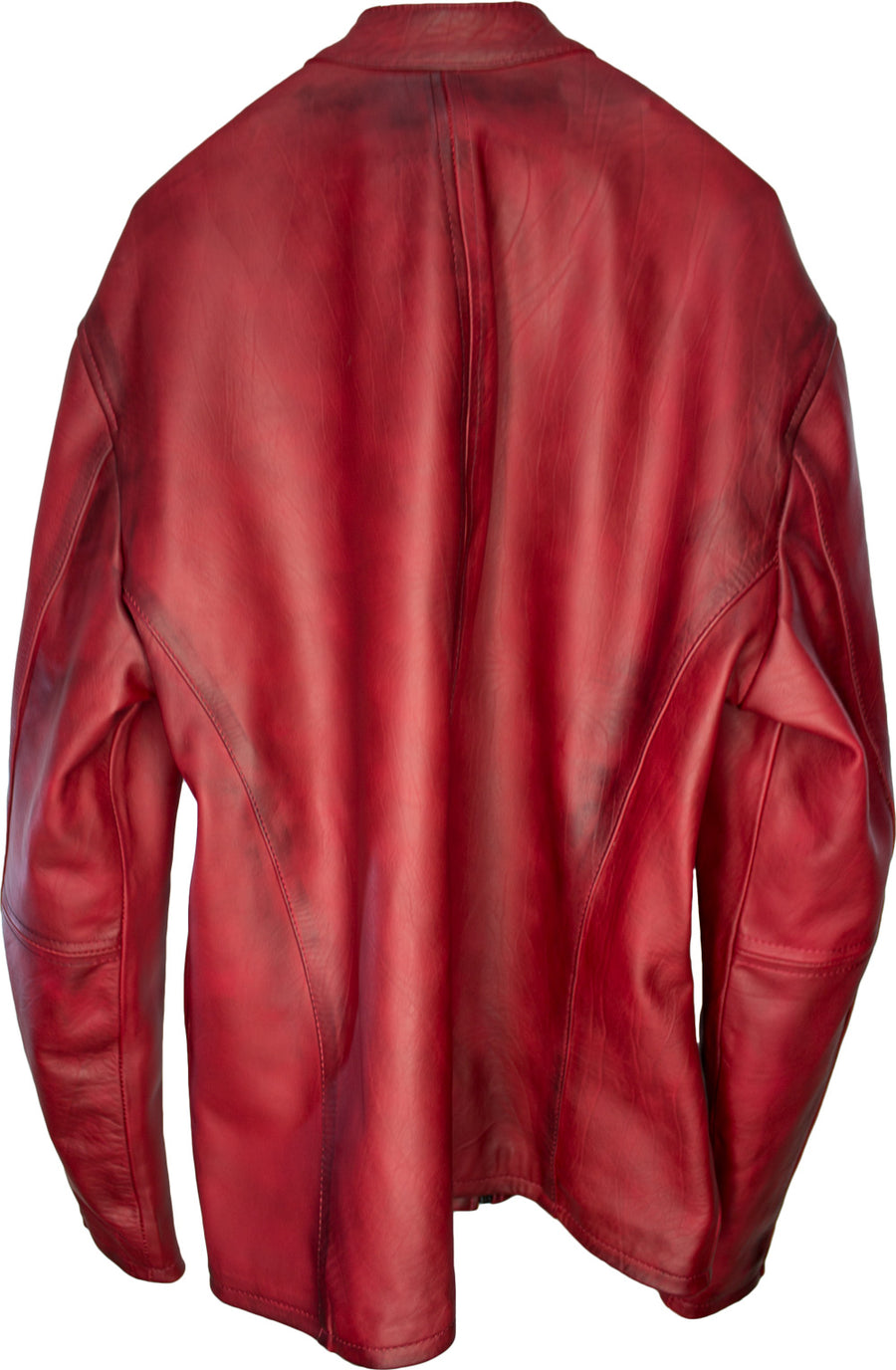 R79 HB Leather Jacket Luxury Cafe Racer Red Vintage Fit Hand Burnished
