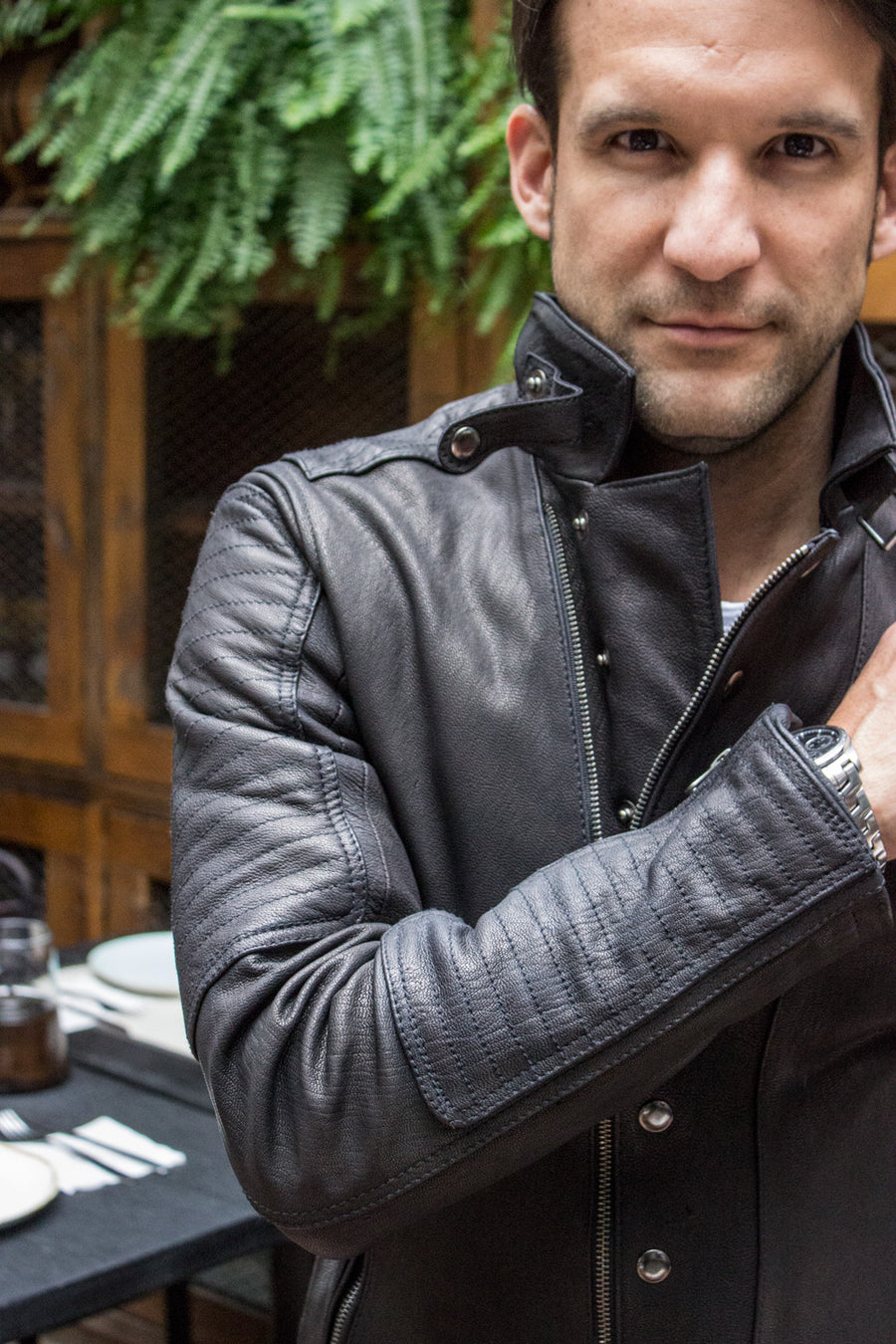 BLACK SOLDIER Leather Jacket  Black   - Luxury Goat Leather