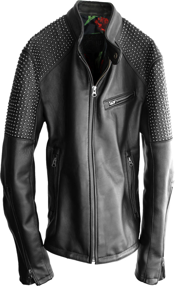 RK70 Leather Jacket Mate Black  - Studs