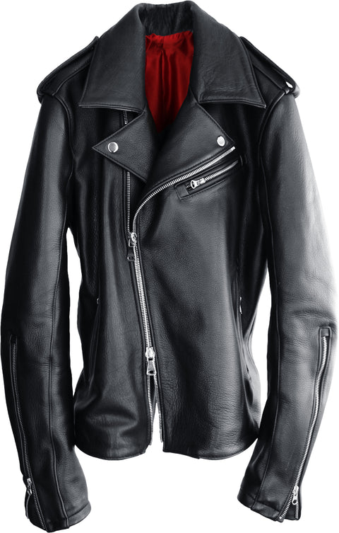 C.Rebel Classic Biker Leather Jacket Leather - Black