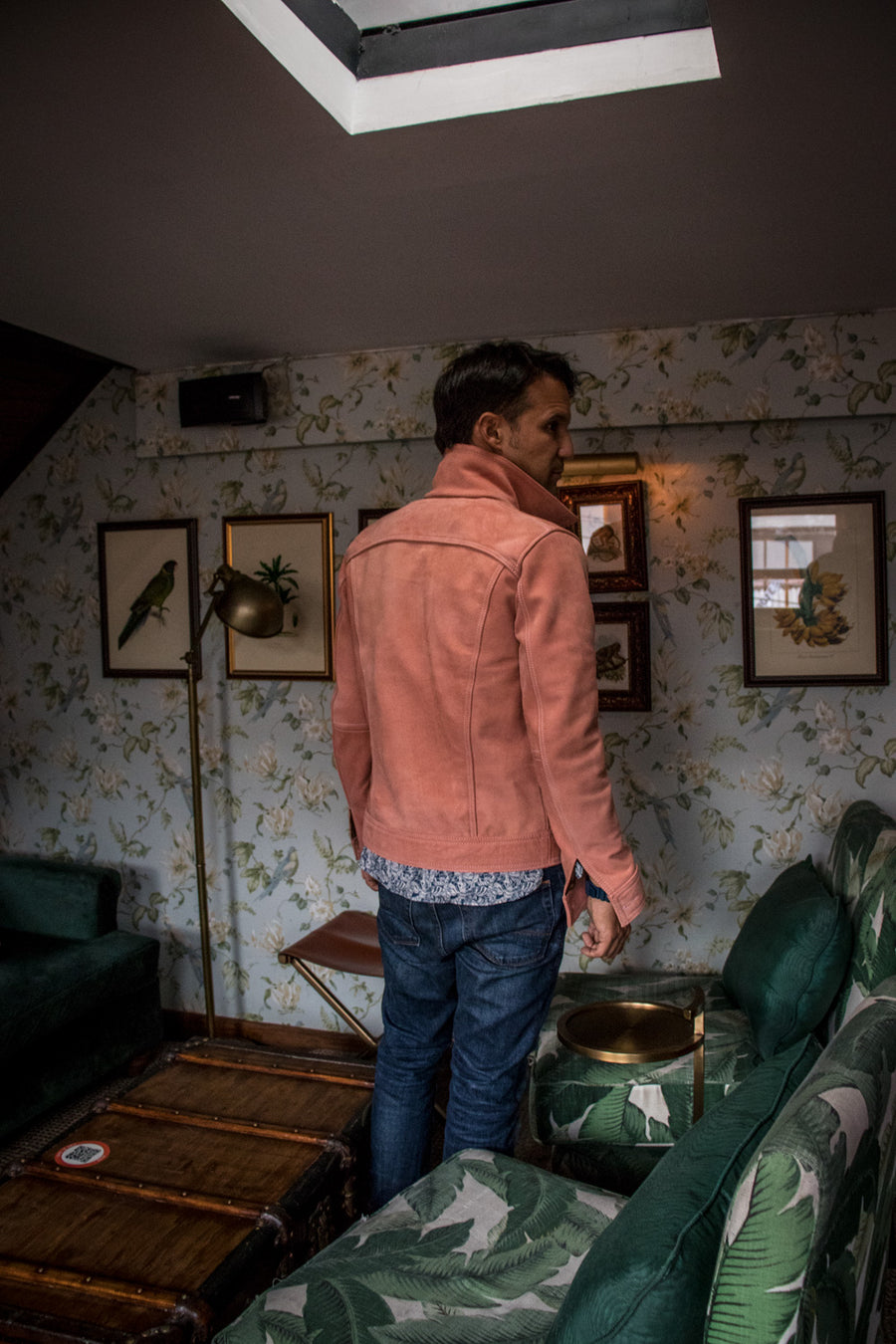 MCDAVE Leather Jacket Pink Rose  - Bison Suede -