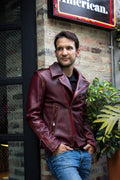 MELBOURNE Leather Jacket - Special Edition - Distressed Mahogany -