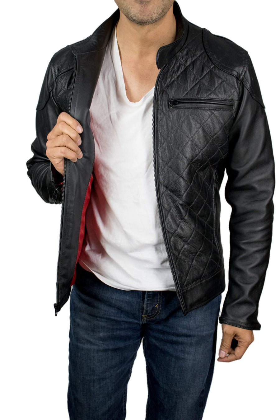 MANSFIELD Leather Jacket Black
