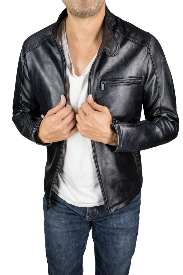 R79 AX Leather Jacket - Cafe Racer