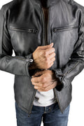 R79 2P Leather Jacket Distressed Black - PDCollection Leatherwear - Online Shop