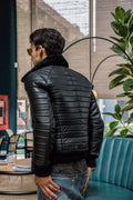MAR L.E. Leather Jacket Quilted in Black & Black Shearling - Limited