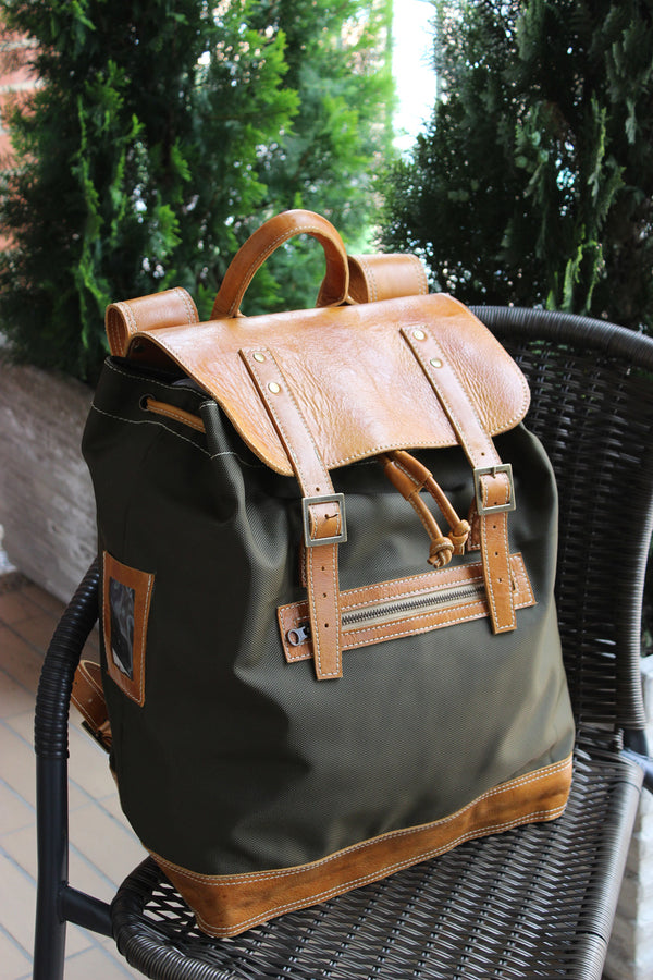AVENTURA Backpack - Leather and Canvas