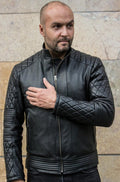LANCASTER Leather Jacket Quilted - Black