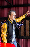 BOSTON Leather Suede Varsity Black & Yellow