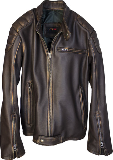 GAMMA Leather Jacket Lambskin - Distressed Brown Quilted