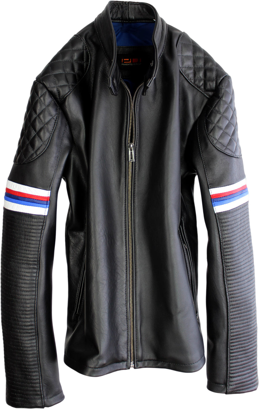 M3 Leather Jacket Black - BMW Car Edition Stripes